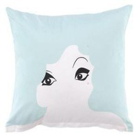 Twinkle Living Glamour Girl Pillow Seafoam Cotton Pillows