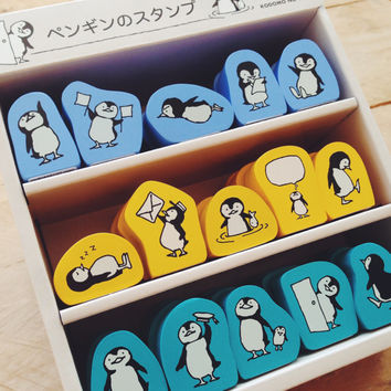 Kodomo No Kao Cute PENGUIN Rubber Stamp