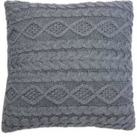 Cable Knit Pillow Grey (Without Insert)