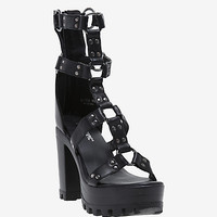 Ring Strap O-Ring Cage Heels