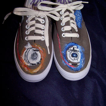 Hand-painted Portal Game Shoes- every side painted