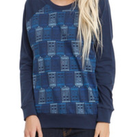Doctor Who TARDIS Pattern Girls Pullover Top