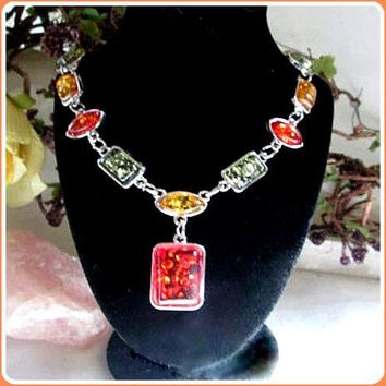 Success & Protection Amber Necklace