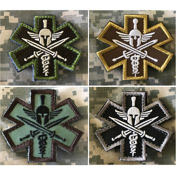 "BuckUp Tactical Morale Patch Hook Molon Labe Spartan EMT 2.5"" Sized Patches"