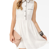 Coated Trimmed Shirtdress