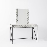 Herringbone Mirrored Vanity