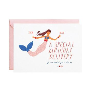 Mermaid's Birthday Card