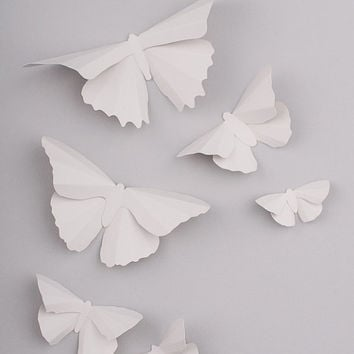 3D Butterfly Wall Art: Platinum Silhouettes for Girls Room, Nursery, and Home Art Decor