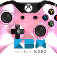 Pink Chrome Xbox One Controller