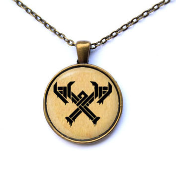 Geek pendant fantasy jewelry League of Legends Freljord necklace