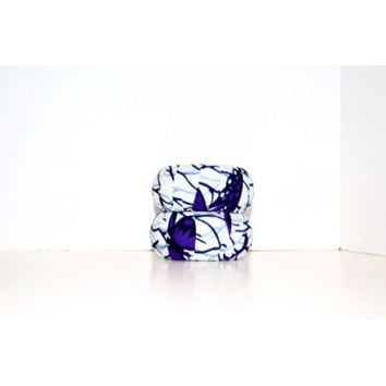 Purple And White African  Ankara Print Bangles