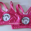 Thingy 1 Thingy 2 PINK  Metallic Sports Bra Cheerleading