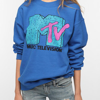 Urban Outfitters - Junk Food MTV Sweatshirt - Blue