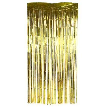 Foil Fringe Backdrop Birthday Wedding Party Curtain