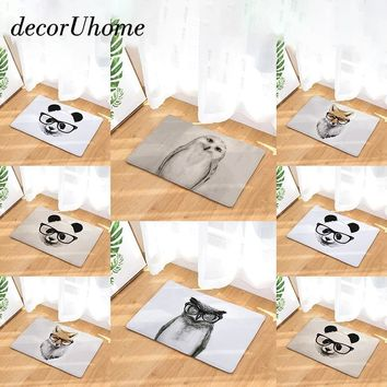 Autumn Fall welcome door mat doormat decorUhome Waterproof Anti-Slip  Owl Panda Fox Eagle Kitchen Carpet Bedroom Rugs Decorative Stair Mats Home Decor Crafts AT_76_7