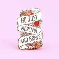 Be Brave Enamel Pin | Narnia Pin - Lapel Pin - Enamel pins