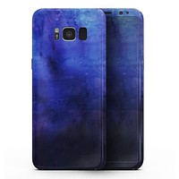 Dark Blue Absorbed Watercolor Texture - Samsung Galaxy S8 Full-Body Skin Kit