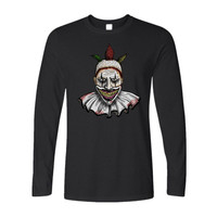 Creepy as Hell Twisty the Clown American Horror Story Men's Long Sleeve T-Shirt -  Limited Edition