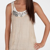 Miss Me Chiffon Overlay Tank Top - Women's Shirts/Tops | Buckle