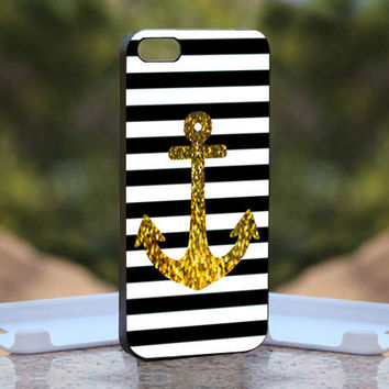 Anchor Gold Bling - Design available for iPhone 4 / 4S and iPhone 5 Case - black, white and clear cases