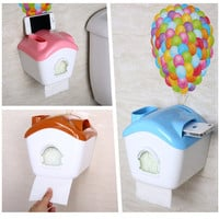 UP Balloons House Shaped Toilet Tissue Box