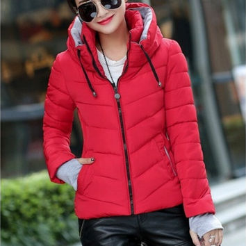 2016 Thick Winter Outerwear Plus Size Down Coat Cotton-padded Jackets And Coats  [8833588812]