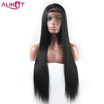[ALI HOT] 150% Density Straight Lace Front Human Hair Wigs For Black Women Pre Plucked Natural Hairline With Baby Hair Remy Hair