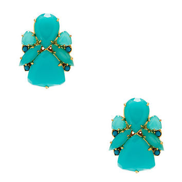 Kate Spade Color Pop Statement Studs Turquoise ONE