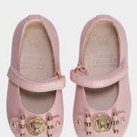 Young Versace Ballerina Slippers with Medusa for Girls | US Online Store