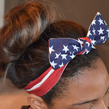 American Flag Hair tie Headband Accessory