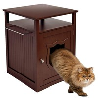 Nightstand Cat House and Litter Box Cover