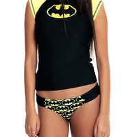 DC Comics Batman Logo Girls Rash Guard