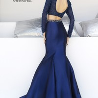 Sherri Hill 32044 Long Sleeve Mermaid Prom Dress
