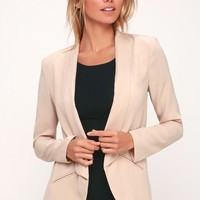 Miss Punctuality Taupe Blazer