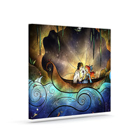 "Mandie Manzano ""Something About Her"" Mermaid Outdoor Canvas Art"