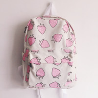 Harajuku japanese sweet strawberry backpack