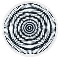 Optical Illusion Heavy Terry Round Beach Towels with Deluxe Trim