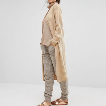 Micha Lounge Longline Ribbed Cardigan at asos.com
