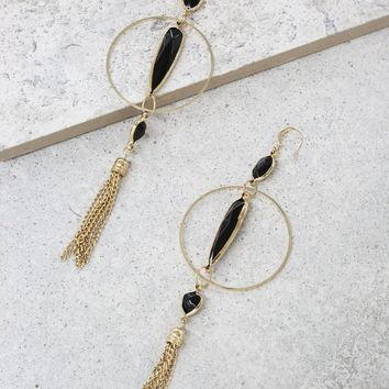 Passion Project Earrings in Onyx and Gold