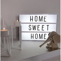 LED Cinema Lightbox Changeable Letters - Doingart Mini Cinematic Light Box 345 Letters with Emoji, Symbols and Numbers DIY Marquee Signs for Home and Wedding Decor (USB or Battery Powered)