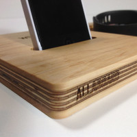 AllAboard Wood Phone Dock and Catch-All Organizer