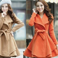 Show thin nice coat dress for girls
