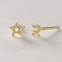 Diamond Estelita Studs by Charlie and Marcelle Gold All Jewelry
