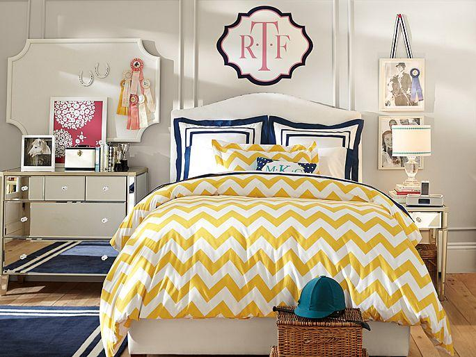 Raleigh Chevron Bedroom From Pbteen Room Ideas