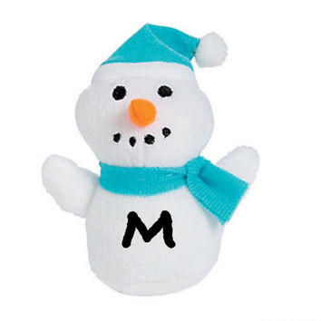 Christmas Plush ~ 4in Snowman ~ Small Stuffed Gift for Stocking, Classroom, personalized kids gifts, Under 5, Personalized