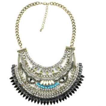 In Living Color Antique Gold Statement Necklace