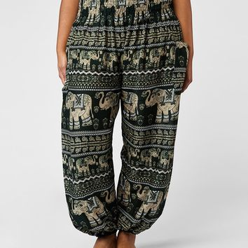 Lenana Plus Size Olive Harem Pants