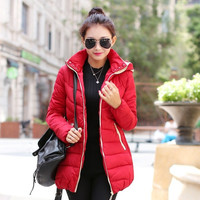 2015 winter new women's Couture slim female coat zipper color guard = 1930525188