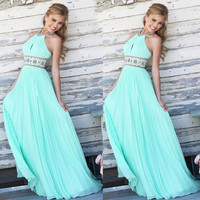 Women Formal Sleeveless Long Maxi Dress Prom Evening Party Cocktail Bridesmaid