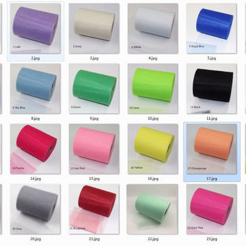 6 Inch 100 Yards High Quality Colorful Tulle Roll GirlsTutu Skirt Tulle Fabric Spool Party Birthday Wedding Wedding Decoration